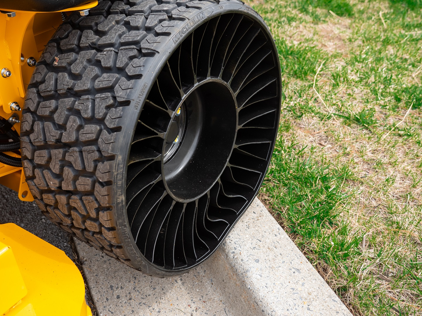 michelin tweel tire front angle view