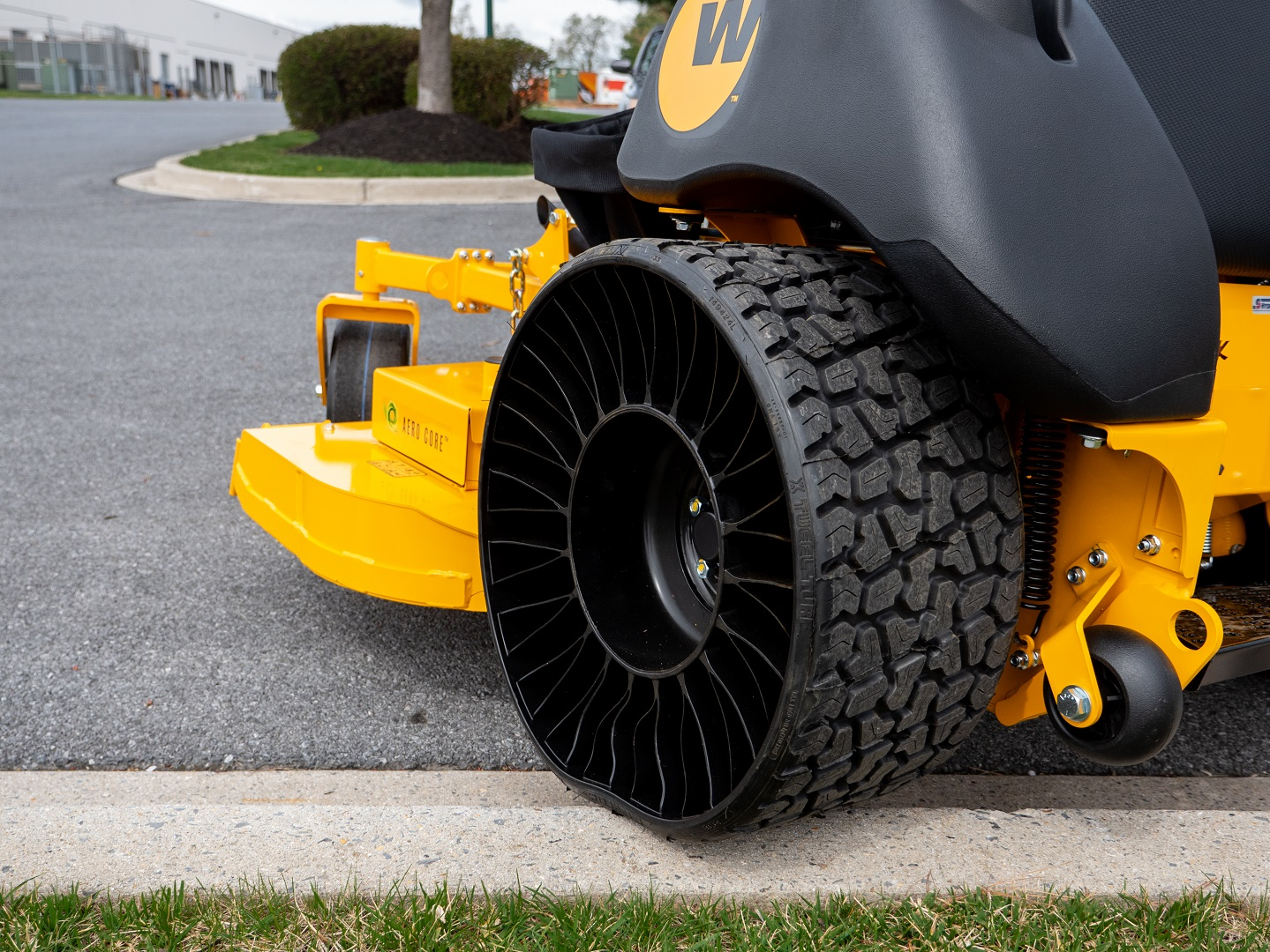 michelin tweel tire rear angle view
